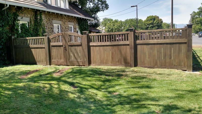 Wood Fence Salt Lake City United Fence Co United Fence Utah