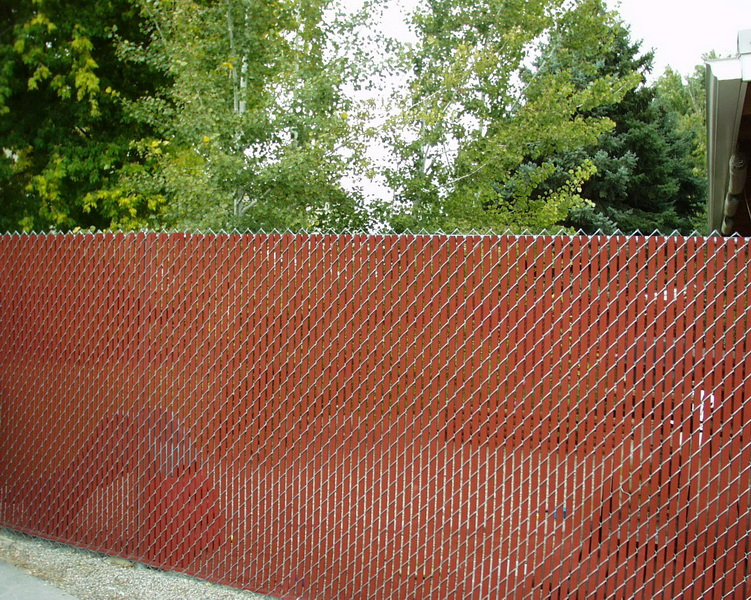 Privacy Chain Link Fence In Salt Lake City Utah United