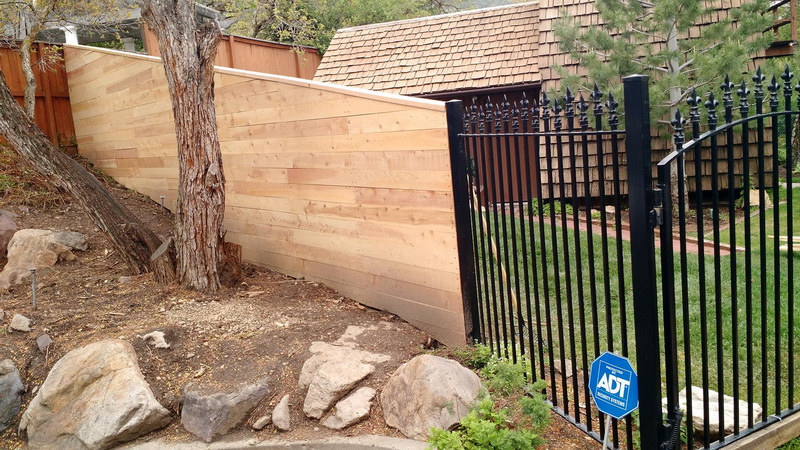Wood Fence In Salt Lake City, Utah