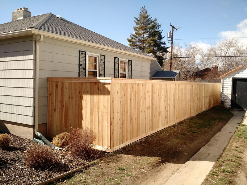 Wood Fence In Salt Lake City Utah United Fence Company