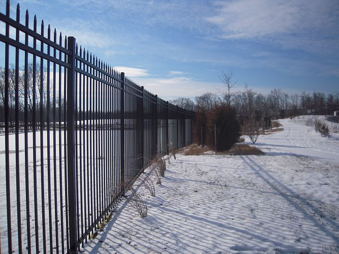 Ornamental Iron Fence In Salt Lake City Utah United