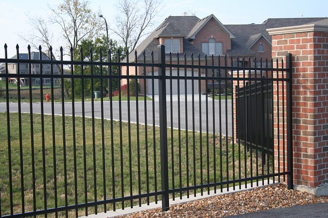 Ornamental Iron Fence In Salt Lake City Utah United